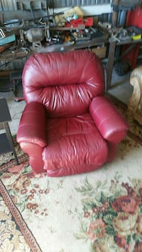 Recliner, leather swivel rocker