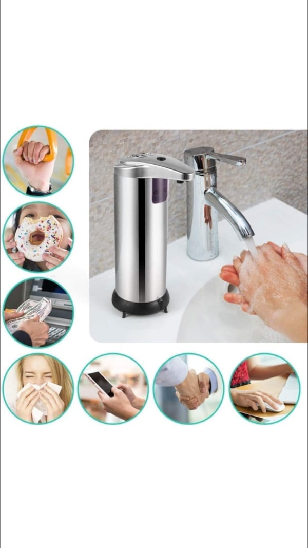 Automatic Soap Dispenser Stainless Steel New - cheaper than Amazon 29cc3dcf-f21a-4654-8378-07ea5d91e53a