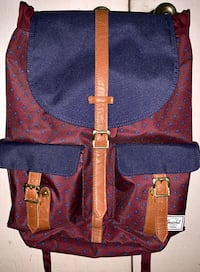Herschel Dawson Leather Strapped Backpack *LIMITED DISCONTINUED COLORWAY* Cerritos