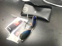 blue Ray Ban Aviator sunglasses with black leather case Centreville, 20120