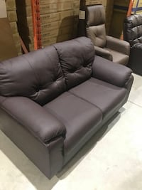 leather love seat Hamilton