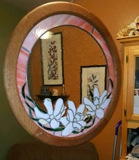 Huge 28 inch wide antique stained glass window San Antonio, 78223