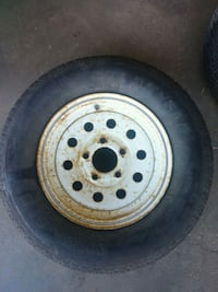 gray bullet hole car wheel with tire Edmonton, T5Y 3B7