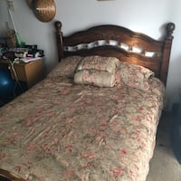 SIMMONS BEAUTYREST QUEEN BED W/ SILK FLORAL DUVET + HEAD/FOOTBOARD Vancouver, V5N 4A3