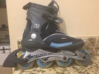 Size 8 roller blades plus protective gear