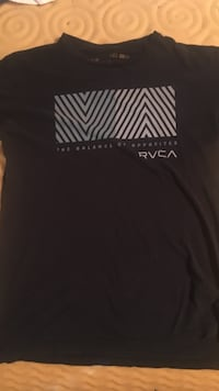 black crew neck RVCA t-shirt Powell, 75153