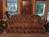 brown and red floral fabric sofa Cookeville, 38501