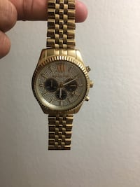 Round gold michael kors chronograph watch with link bracelet Long Beach, 90802