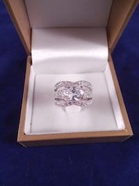 silver-colored diamond ring Toronto