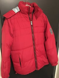 rød zip-up jakke 5946 km