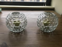 2 crystal candle holders Chicago, 60613