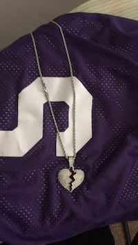purple and silver cross pendant necklace District Heights, 20747