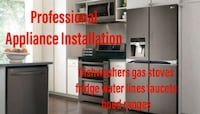 appliance installer dishwasher water lines faucets London
