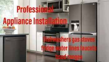 appliance installer dishwasher water lines faucets