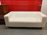 White Leather Love Seat Las Vegas, 89139