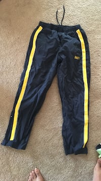 black and yellow navy printed sweatpants 166 mi