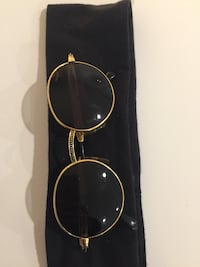 Vintage Police Sunglasses - Gold Silver Spring