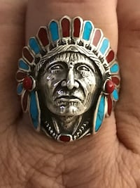 Brand New Sterling silver.925 indian Chief ring size 12 1st $80 Takes  Las Vegas, 89145