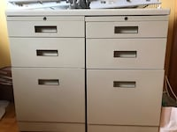 White metal 6-drawer dresser. Movable top  Pointe-Claire, H9R