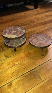 Set of 3 coasters or candle holders Pittsburgh