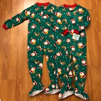 New 4T Christmas fleece sleepers/pajamas ($10 each or $15 for both) Vancouver, V5V