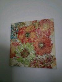 red and green flower painting 2x2 ft Thorold, L2V 0A6