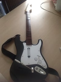 black and white game guitar