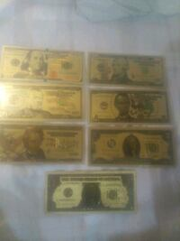 Gold plated usa bank notes St. Catharines, L2P 0B9
