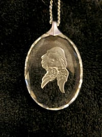 Jewelry angel cameo silver chain necklace