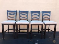 Set of 4 Dark Brown Bar Height Chairs Woodbridge, 22192