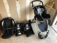baby's black and gray travel system Carmichael, 95608