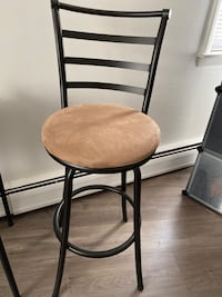 Like new condition, set of 2 bar stools, suede lined seat covers. Ridgewood, 07450