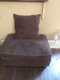brown suede sofa chair with ottoman Philadelphia, 19120