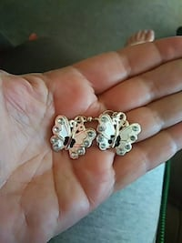 White Butterfly Earrings Burlington, 52601