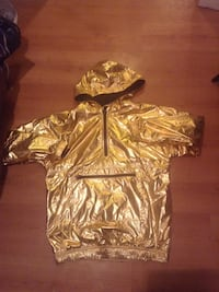 Gold metallic adidas half zip windbreaker Winnipeg, R2P 0K4