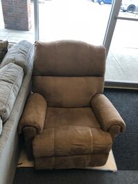 brown fabric padded recliner sofa chair 367 mi