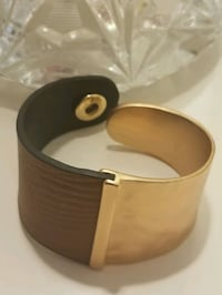Leather and copper bracelet Chantilly, 20151