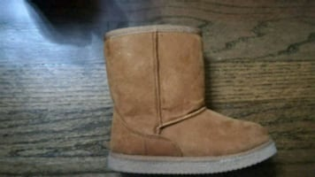 Toddler Girls Nordstrom Rack Faux Suede Boots 9M