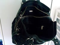 black and white leather backpack Chilliwack