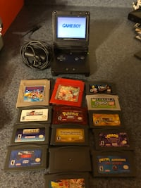 Game Boy Advance Sp (Backlit Screen) With 14 games and Charger 587 mi