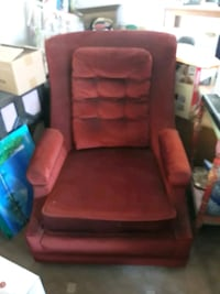 High back rust velvet chair  Albuquerque, 87111