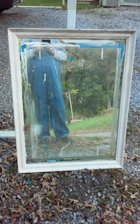 rectangular clear glass window with white wooden frame 326 mi