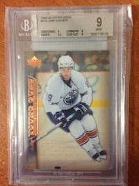2007-08 Upper Deck Young Guns Sam Gagner ROOKIE RC #218 BGS 9 OILERS CANUCKS EDMONTON