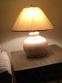 "MOVING TMRW - must sell today - 2 light peach 21"" high lamps - $40 each  Brampton, L6S 1Z5"