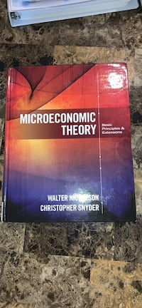 Microeconomic theory 12th edition Walter Nicholson, Christopher Snyder Mississauga, L5M 8A7