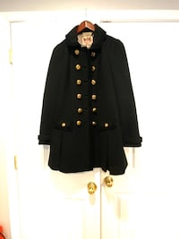 Juicy couture black cashmere wool pea coat
