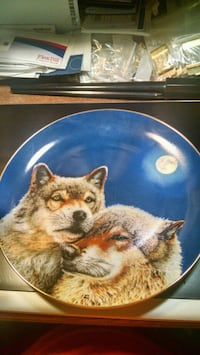 Danbury Mint Wolf Collector Plate