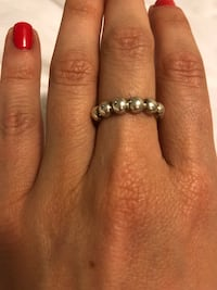 Coach solid sterling silver ring size 7 King, L7B