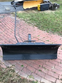 Snow plow for lawn mower
