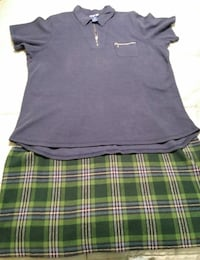 Women's Skirt & Polo-Style Top